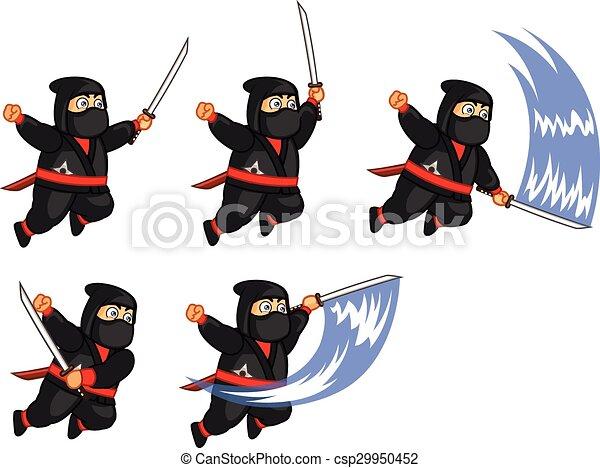 El espíritu ninja gordo - csp29950452