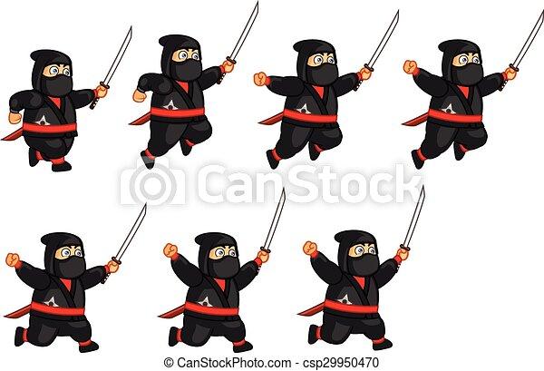 El espíritu ninja gordo - csp29950470