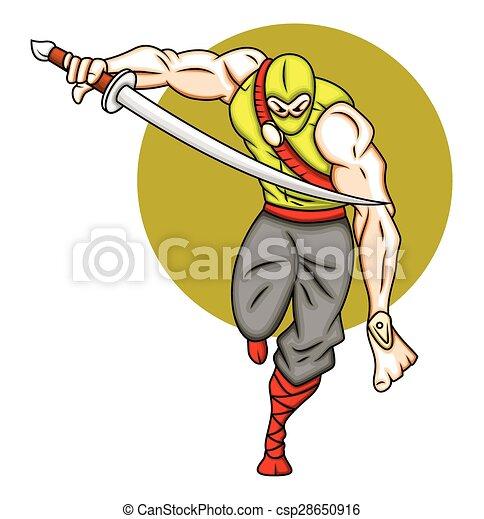 Un ataque ninja - csp28650916