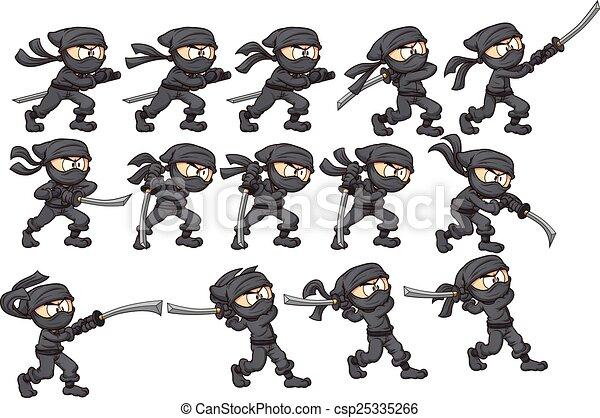 Un ataque ninja - csp25335266