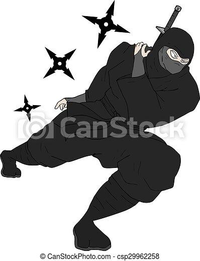Un ataque ninja - csp29962258