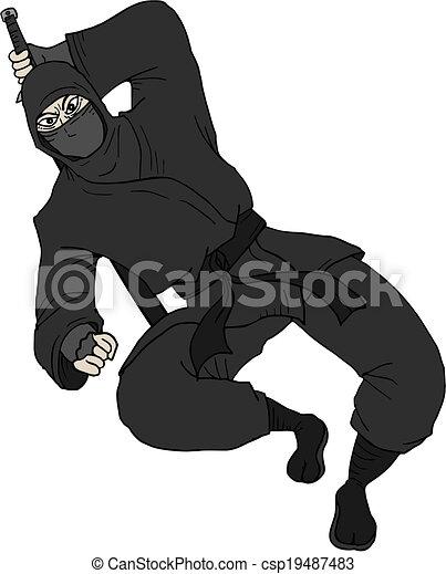 Ataca ninja - csp19487483
