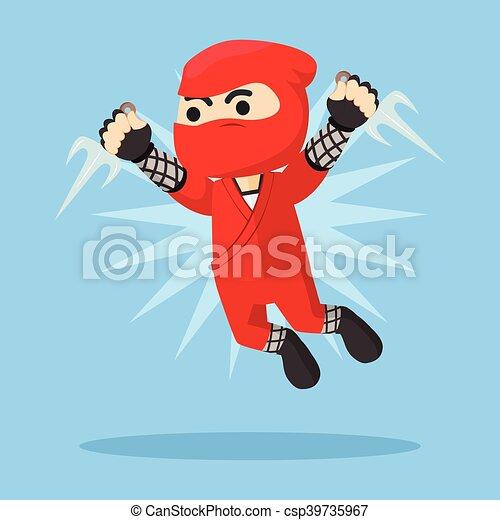 Ilustración de ataque ninja - csp39735967