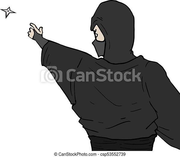 Un ataque ninja - csp53552739
