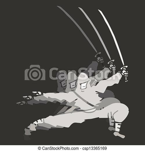Ninja Ataque Desenho Criativo