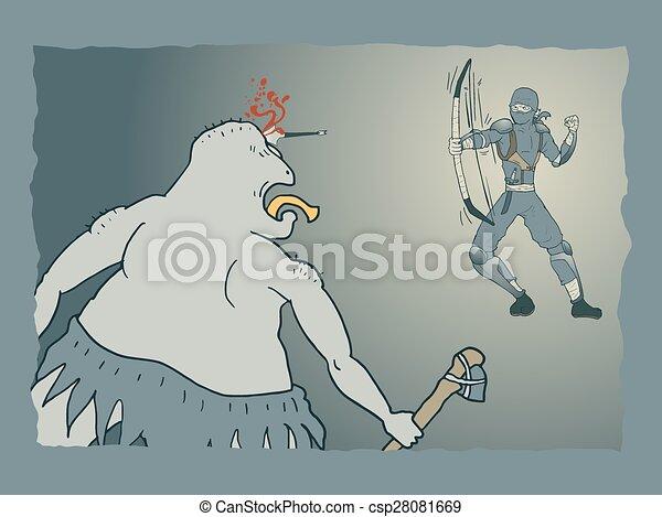 Un ataque ninja - csp28081669