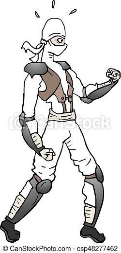 Ilustración ninja blanca - csp48277462