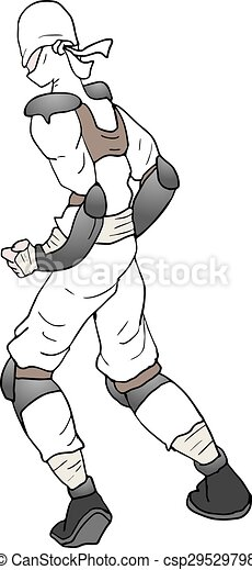 Ilustración ninja blanca - csp29529798