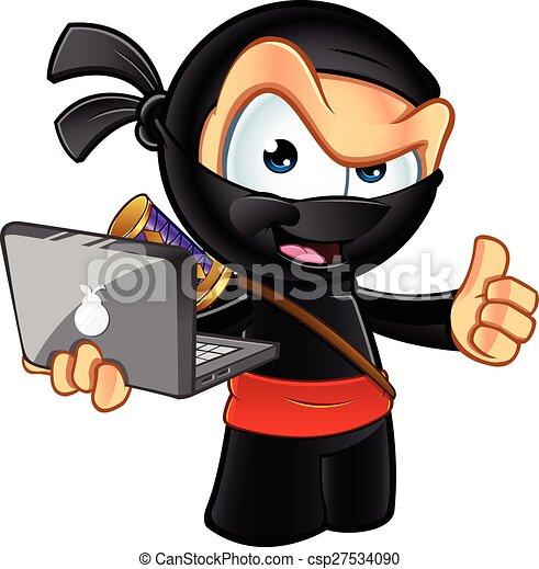 Escurridizo personaje ninja - csp27534090