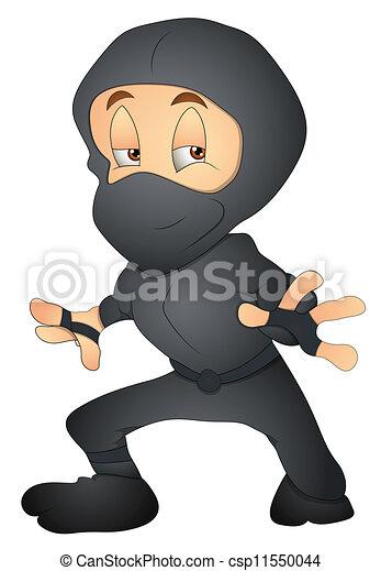 Un personaje ninja japonés - csp11550044