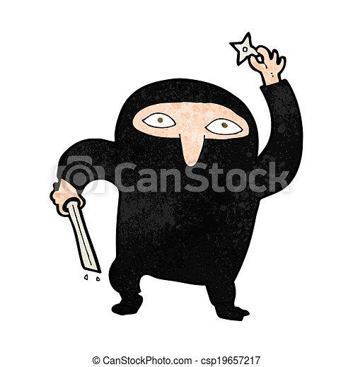 Ninja de dibujos animados - csp19657217