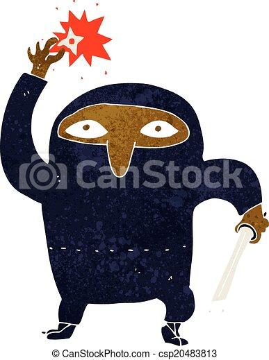 Ninja de dibujos animados - csp20483813