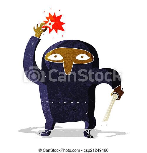 Ninja de dibujos animados - csp21249460
