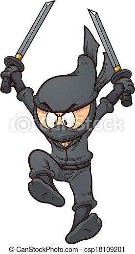 Ninja de dibujos animados - csp18109201
