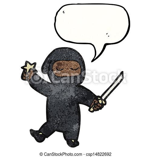 Un ninja Cartoon - csp14822692