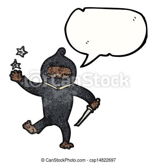 Un ninja Cartoon - csp14822697