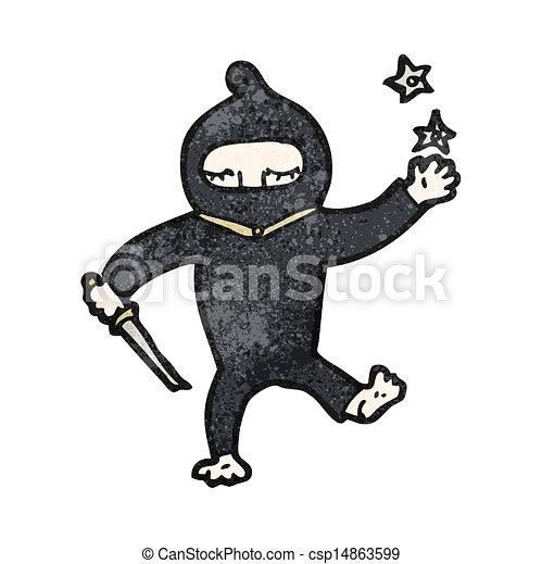 Un ninja Cartoon - csp14863599