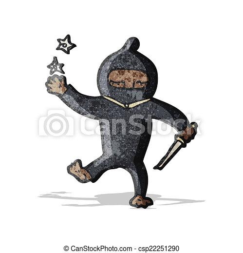 Ninja de dibujos animados - csp22251290
