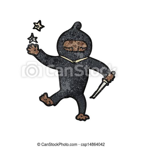 Un ninja Cartoon - csp14864042