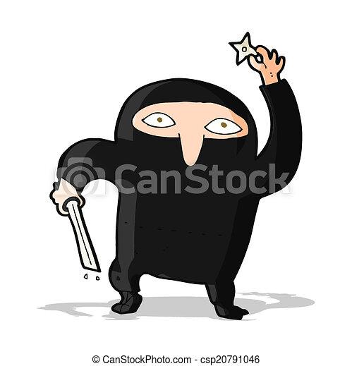 Ninja de dibujos animados - csp20791046