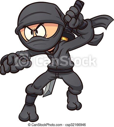 Ninja de dibujos animados - csp32166946
