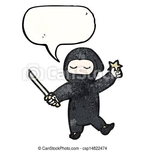 Un ninja Cartoon - csp14822474