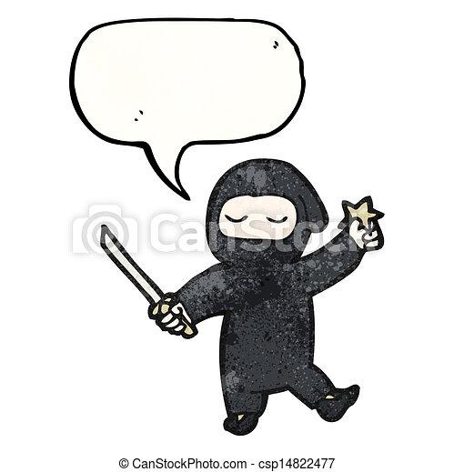 Un ninja Cartoon - csp14822477