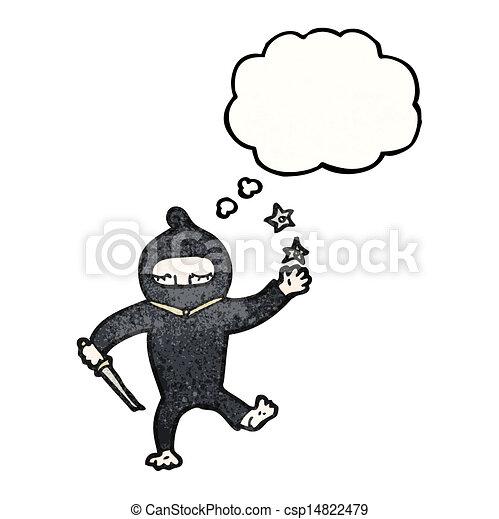 Un ninja Cartoon - csp14822479