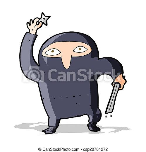 Ninja de dibujos animados - csp20784272