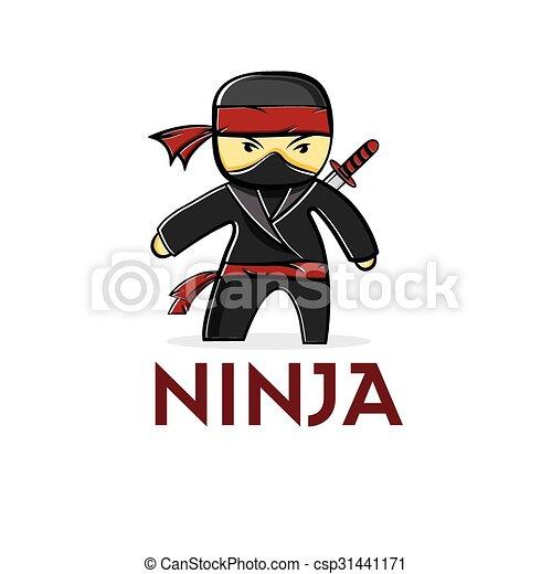 Ninja de dibujos animados - csp31441171