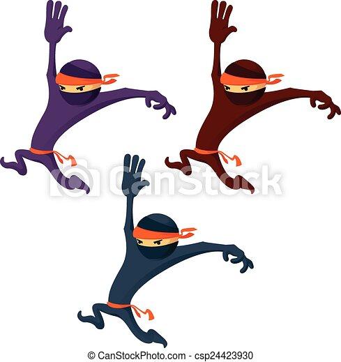 Ninja de dibujos animados - csp24423930
