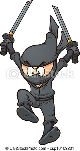 Ninja cartone animato tutto arte clip semplice illustrazione