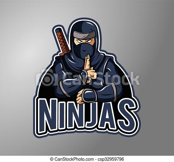 Ilustración Ninja placa de diseño - csp32959796
