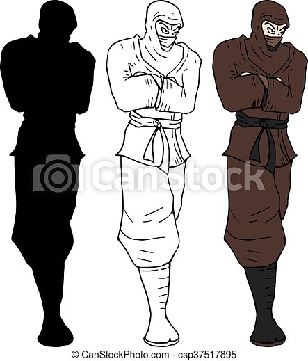 Dibujo ninja - csp37517895