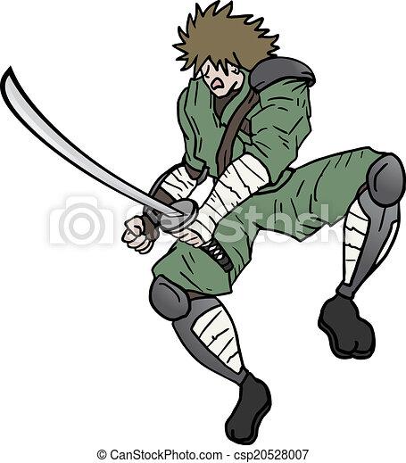 Ninja espada - csp20528007