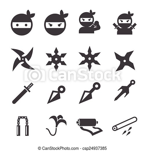 icono ninja - csp24937385