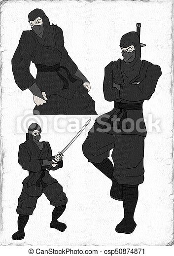 ninja illustration - csp50874871