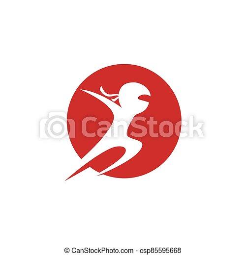 ninja, ilustración - csp85595668