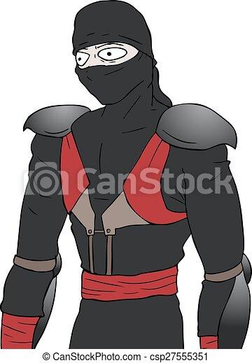 Ilustración ninja - csp27555351