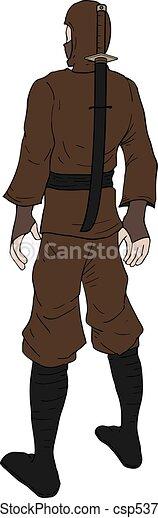 Ilustración ninja - csp53770308