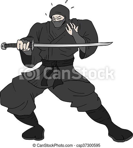 Ilustración ninja - csp37300595
