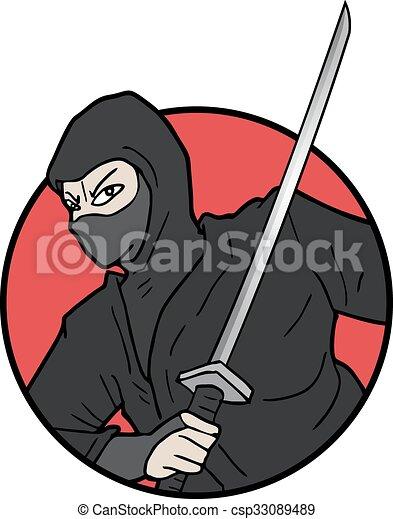 Ilustración ninja - csp33089489