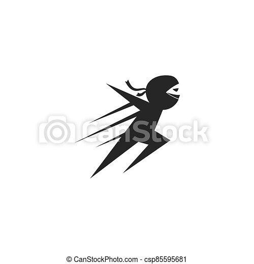 ninja, ilustración - csp85595681