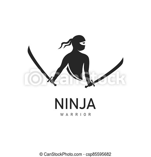 ninja, ilustración - csp85595682