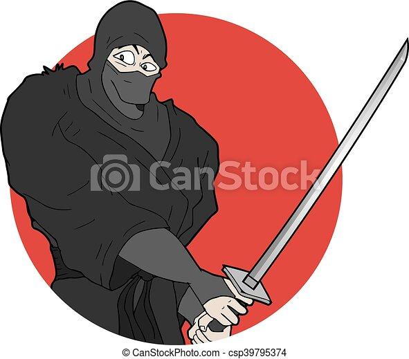 Ninja japonés - csp39795374