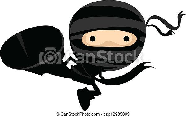 Ninja Kick - csp12985093