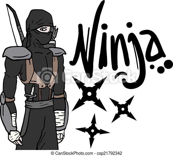 Mensaje ninja - csp21792342