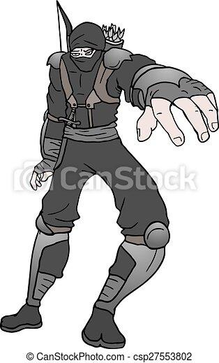Ilustración ninja negro - csp27553802