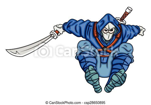 Pose de salto ninja - csp28650895