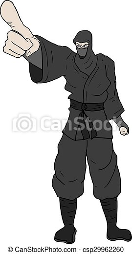 Señalando ninja - csp29962260